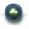 Glass 10mm Jet Aurora Borealis Round Bead Strung